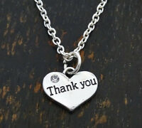 Thank You Necklace, Thank You Charm, Thank You Birthday, Thank You Gift, Thanks