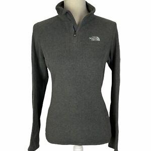 The-North-Face-1-4-Zip-Fleece-Pullover-Jacket-Womens-Small-Dark-Gray-Lightweight