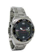 Fila FA0602-G Technosport Men's Round Carbon Analog Digital Chronograph Watch