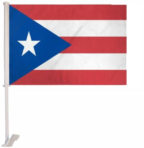"12x18 Puerto Rico Royal Blue Double Sided Car Window Vehicle 12/""x18/"" Flag"