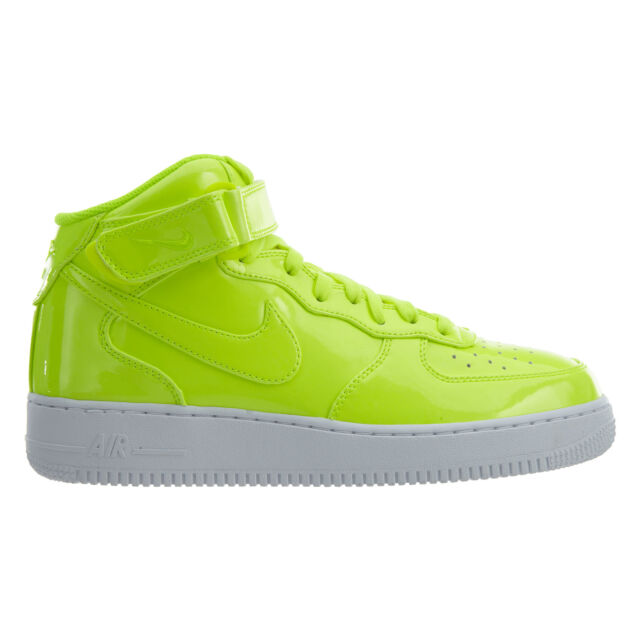 san francisco 5d7f1 92895 Nike Air Force 1 Mid 07 LV8 UV Mens AO0702-700 Volt Patent Leather Shoes