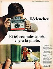 PUBLICITE ADVERTISING 045  1966  POLAROID   photo  LAND CAMERA AUTOMATIC 104