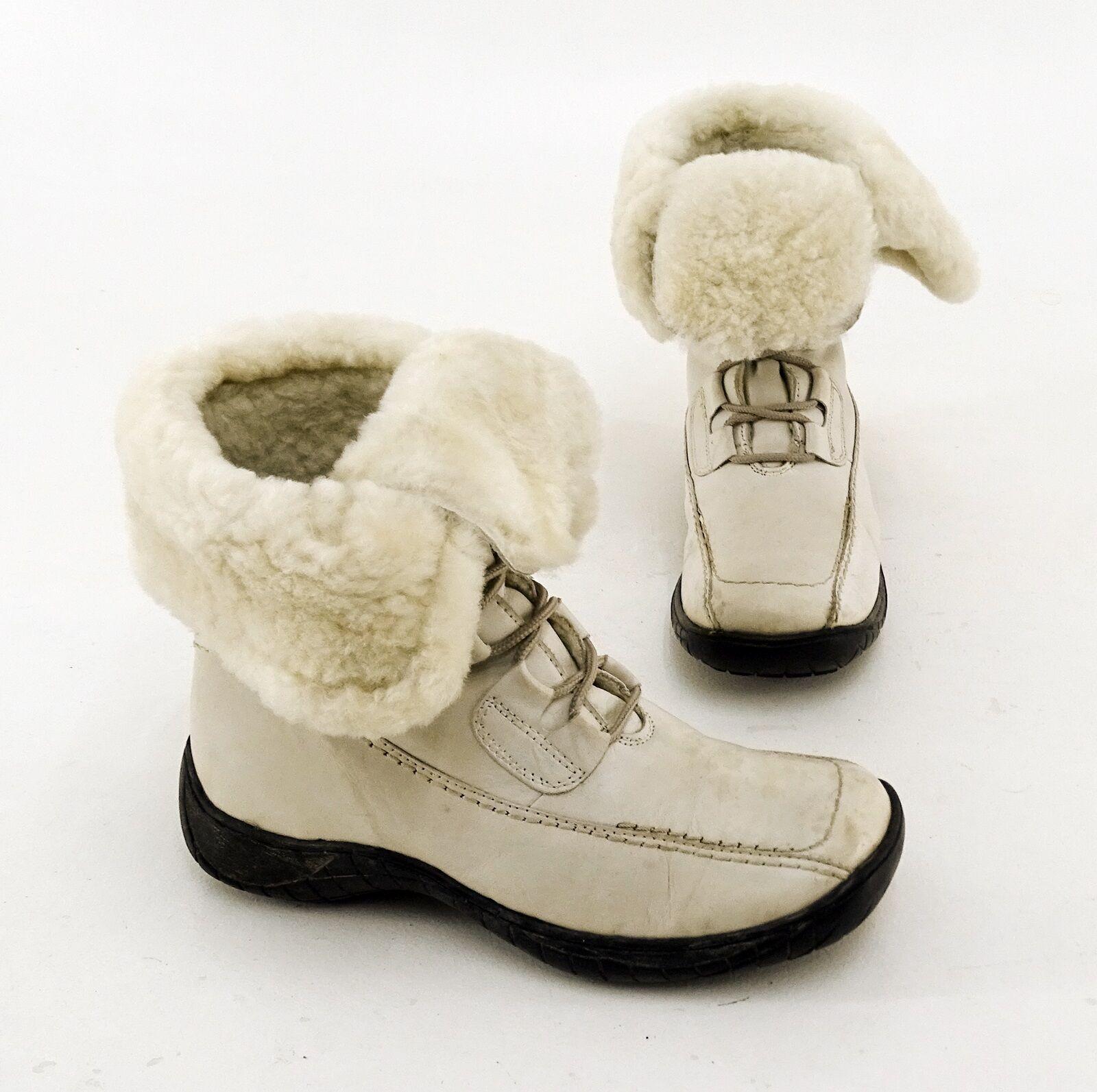Stiefeletten Tamaris Winter Boots Schnürverschluss Echtleder offwhite Gr. 38