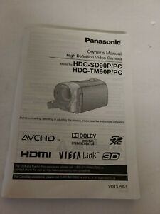 Panasonic HDC-SD90P/PC High Definition Video Camera Owners Manual Booklet 167 pg
