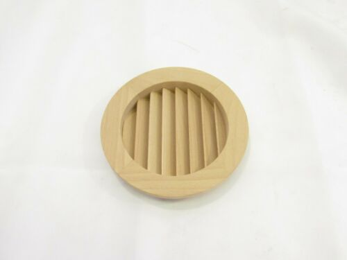 """ORNAMENTAL MOULDINGS 4/"""" ROUND SOLID BEECH WOOD AIR VENT COVER INSERT **NIB**"""