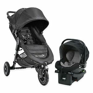Baby Jogger City Mini GT Travel System Black w/ Stroller & City Go Car Seat