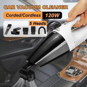 120W Aspirateur à Main nettoyage repassage sec//humide Portable Maison Voiture #