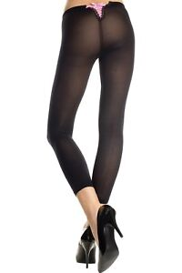 Black-Pink-Satin-Lace-Up-Back-Design-Footless-Tights-Sexy-Lingerie-P35741