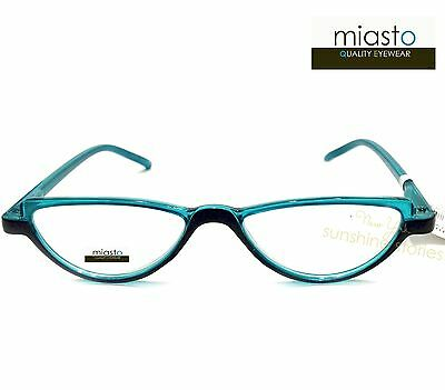 "NWT$39.99 MIASTO ""MINI ITALY"" RETRO HALF MOON READER READING GLASSES SPECS+3.00"