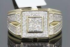 10K YELLOW GOLD 1.05 CARAT MENS REAL DIAMOND ENGAGEMENT WEDDING PINKY RING BAND