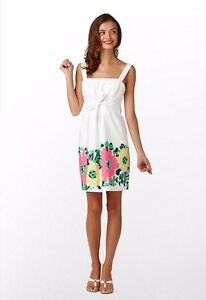 Nwt lilly pulitzer white floral print dress m msrp 178 ebay image is loading nwt lilly pulitzer white floral print dress m mightylinksfo