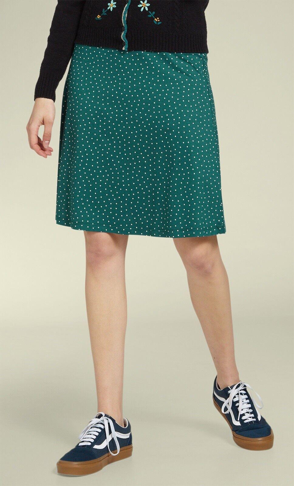 King Louie Skirt Dots Green Dragonfly Boarder-Skirt Little Dots Deep Sky 00513