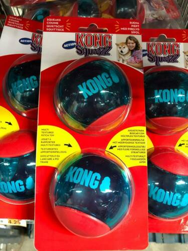 KONG Squeezz Dogs Balls Squeaky Action Dog Toy Ball  SAMEDAY DISPATCH