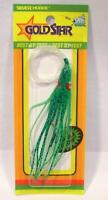 Silver Horde Gold Star Rigged Glow Green Spatter Back Squid Fishing Lure Salmon