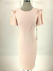 0b55bd1d Calvin Klein NWT Elegant PETAL ruffled short sleeve Crepe Dress, 4,8 ...