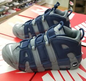 0b73f313ba195e Details about NIKE AIR MORE UPTEMPO  96 MEN S COOL GREY   WHITE-MIDNIGHT  NAVY 921948 003