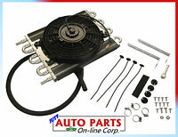 Universal Heavy Duty Transmission Oil Cooler W/ Electric Fan Ford Gmc Jeep Dodge