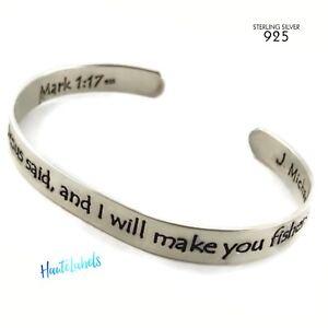 Image Is Loading Scripture Bracelet Sterling Silver 925 Mark 1 17