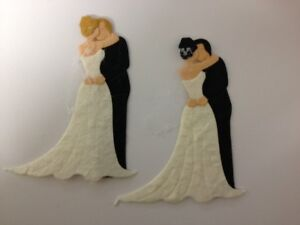 5-Bride-Groom-Couples-Wedding-Card-Making-Scrapbook-Craft-Embellishments-Toppers
