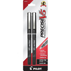 Pilot Precise V5 Rolling Ball Extra Fine Point Pens, Black Ink 2 ea