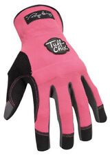 Ironclad Pink Womens Large Synthetic Leather Work Gloves