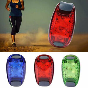 LED Light Up Safety Clip on Running Jogging Night Bike Bicycle Rear Light Mini