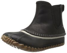 New in Box SOREL Out 'N About Chelsea Black Leather Casual Rain Ankle Boot Sz 5