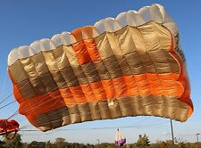 Pursuit 230 sq ft skydiving parachute canopy 7 cell F111  - CRW risers included