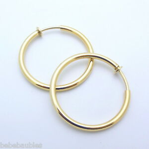 Image Is Loading 1 2 034 Med Gold Gp Hoop