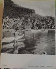 1954 Océanie Iles sous le Vent Pêcheur à Bora-Bora