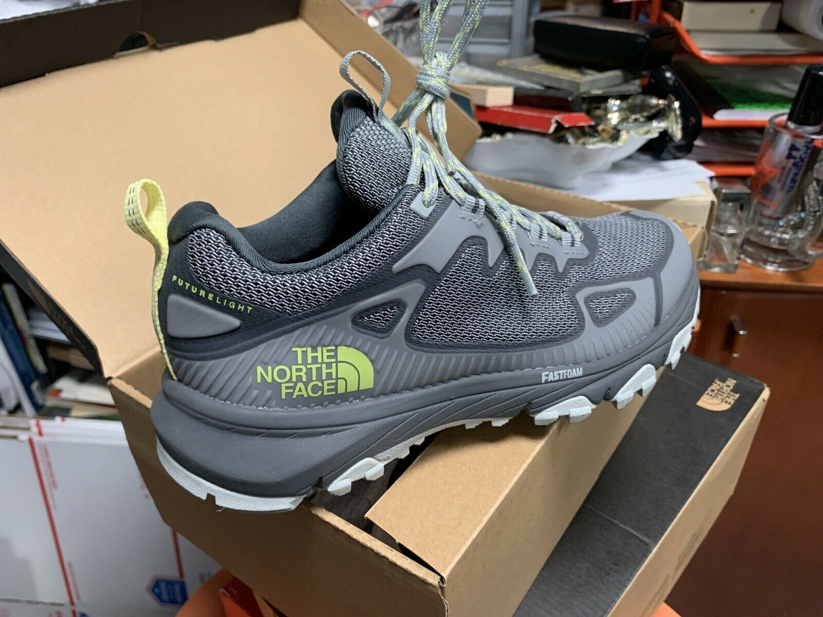 The North Face Ultra Fastpack IV Futurelight Sneakers High Rise Grey Sz 6