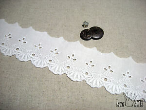 14Yds-Broderie-Anglaise-Eyelet-lace-trim-2-1-034-5-3cm-white-YH-Tiara-laceking2013