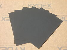 5 Pack KYDEX T SHEET 297 X 210 X 2MM A4 SIZE (P-1 HAIRCELL BLACK 52000)