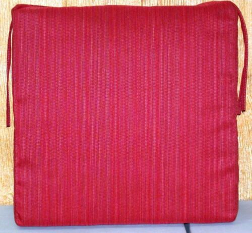 """Outdoor Patio Seat Pad ~ Red Stria Woven ~ 21/"""" x 21/"""" x 4.5/"""" **NEW**"""