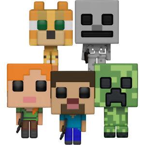 Minecraft steve alex ocelot skeleton creeper pop vinyl bundle set of 5 889698263870 ebay - Minecraft creeper and steve ...