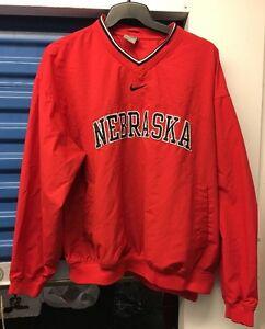 llenar Entrada auricular  Nike Chaqueta De Universidad Nebraska Rompevientos Grandes Rojo L | eBay
