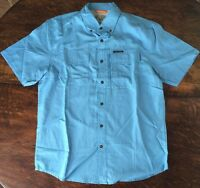 Mens Field & Stream Heritage Blue Universal Travel Shirt Size Medium M $60