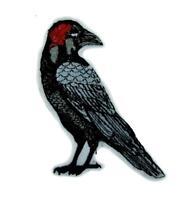 Death Raven Crow Patch Iron On Applique Alternative Goth Punk Edgar Alan Grunge