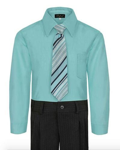 Boy/'s Dress Shirt /& Tie Set Long Sleeve Many Colors Available