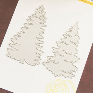 2x-Christmas-Tree-Metal-Die-cutting-Dies-Scrapbooking-Paper-Card-Embossing-HA