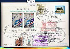 66884) LH FF München - Südafrika South Africa 1./2.12.2001, GA Korea + Block