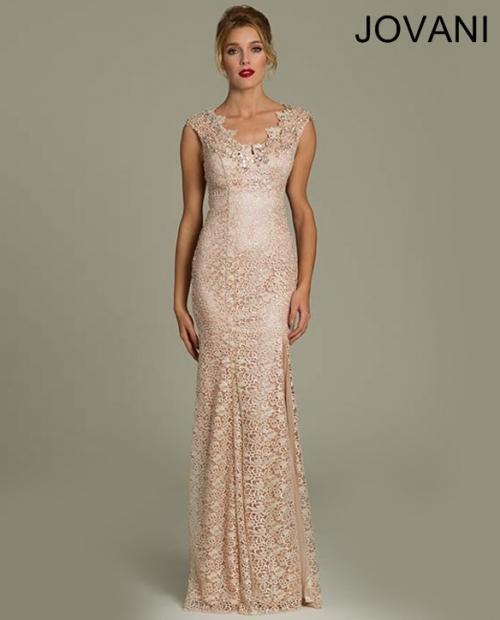 Nouveau Jovani rose ornée de dentelle robe de bal robe de soirée Sz 00 Neuf Avec Étiquettes