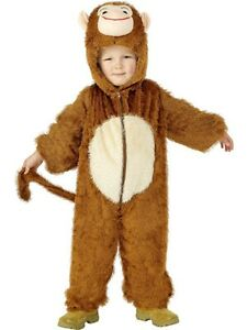 Boys Monkey Zoo Animal Book Day Week Halloween Fancy Dress Up Costume Outfit 4-9