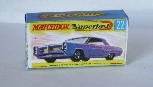 Repro Box Matchbox Superfast Nr.22 Pontiac Coupe