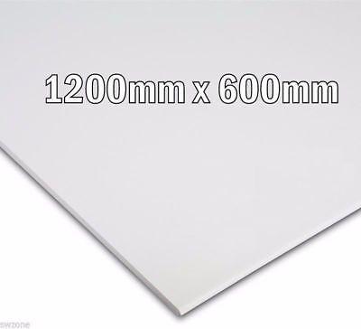 SUSPENDED VINYL LAMINATED WHITE CEILING TILES 595 x 595  FLAT BOARD 6 Tiles //BOX