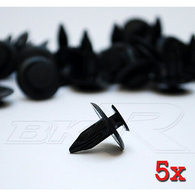5x 6mm Push Fit CLIPS Honda boot carpet roof lining under tray panel FASTENERS