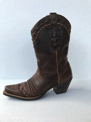 ARIAT 10001368 DIXIE WOMEN/'S BROWN LEATHER WESTERN BOOTS NEW IN BOX