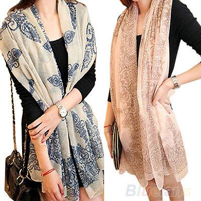 Women Girls Charm Glamor Long Big Wraps Scarf Soft Autumn Winter Scarves BD10A