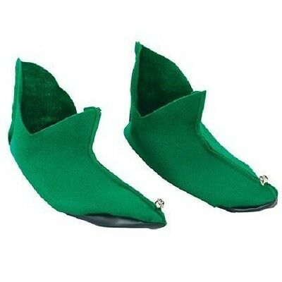 Elf Jester Gnome Robin Hood Peter Pan Shoes Boots Xmas Bells Fancy Dress Costume