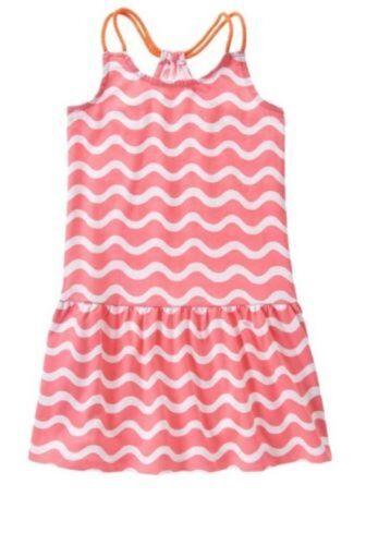 NWT Gymboree Girls Hop N Roll Pink Wave Stripe Rope Strap Dress Size 4 5 6 /& 7